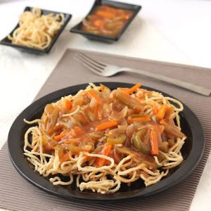 Combination Fried Rice and Fried Noodles